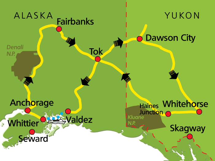 Best of Yukon & Alaska Map
