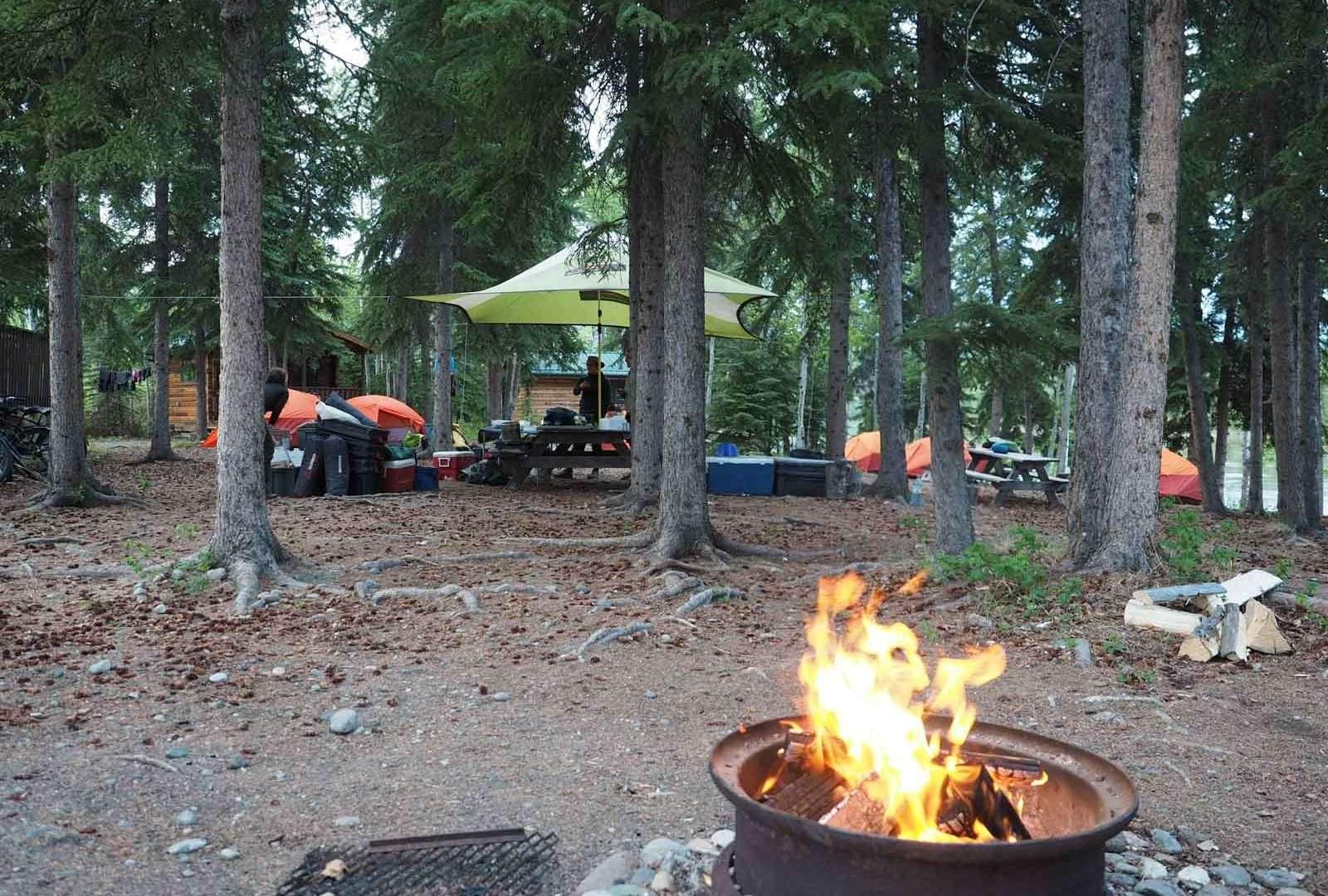 Yukon River - Lake Laberge to Carmacks - Campfire Carmacks