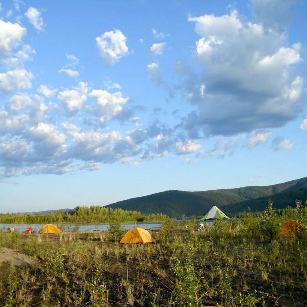Yukon River – The Classic – Lake Laberge to Dawson City - Campsite on an Island