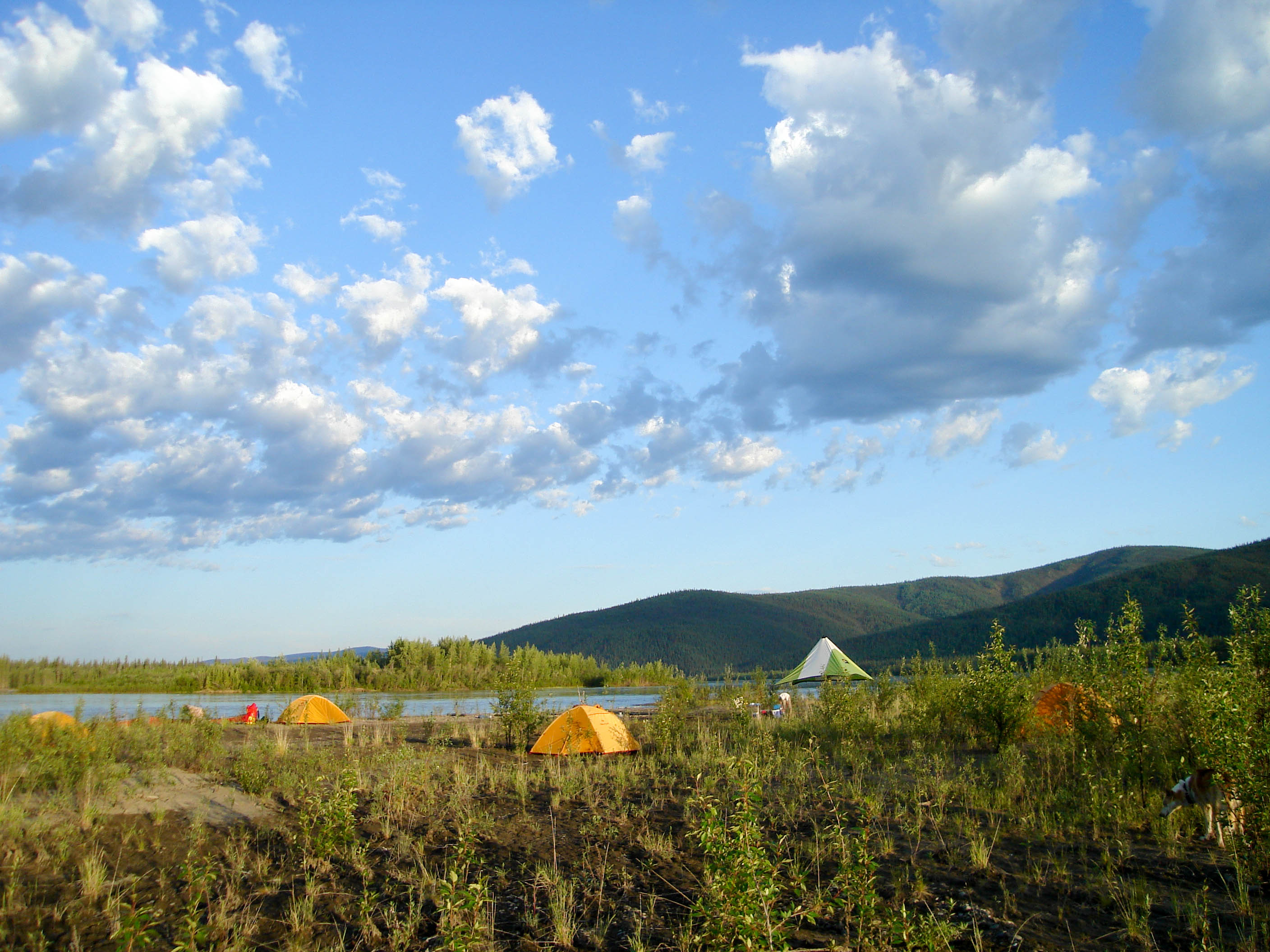 Yukon River – The Classic – Lake Laberge to Dawson City - Campsite on an Island