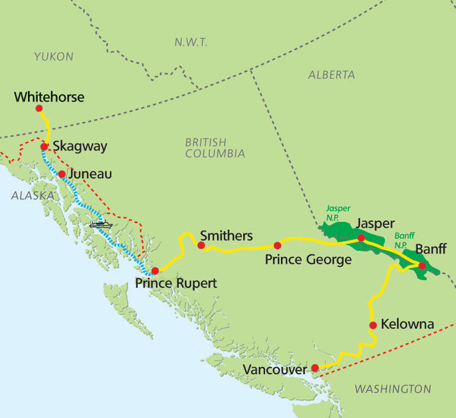Inside Passage & Western Highlights Map