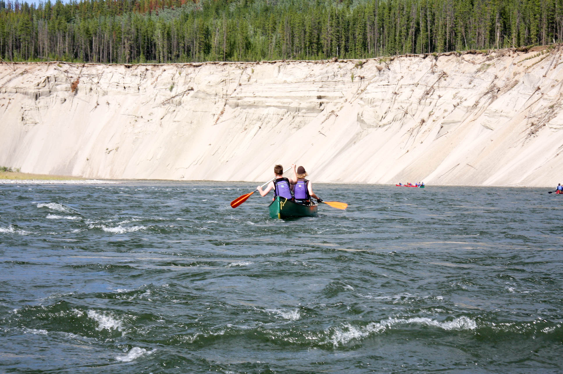 Spirit of the Yukon- Teslin River Canoe trip on the river