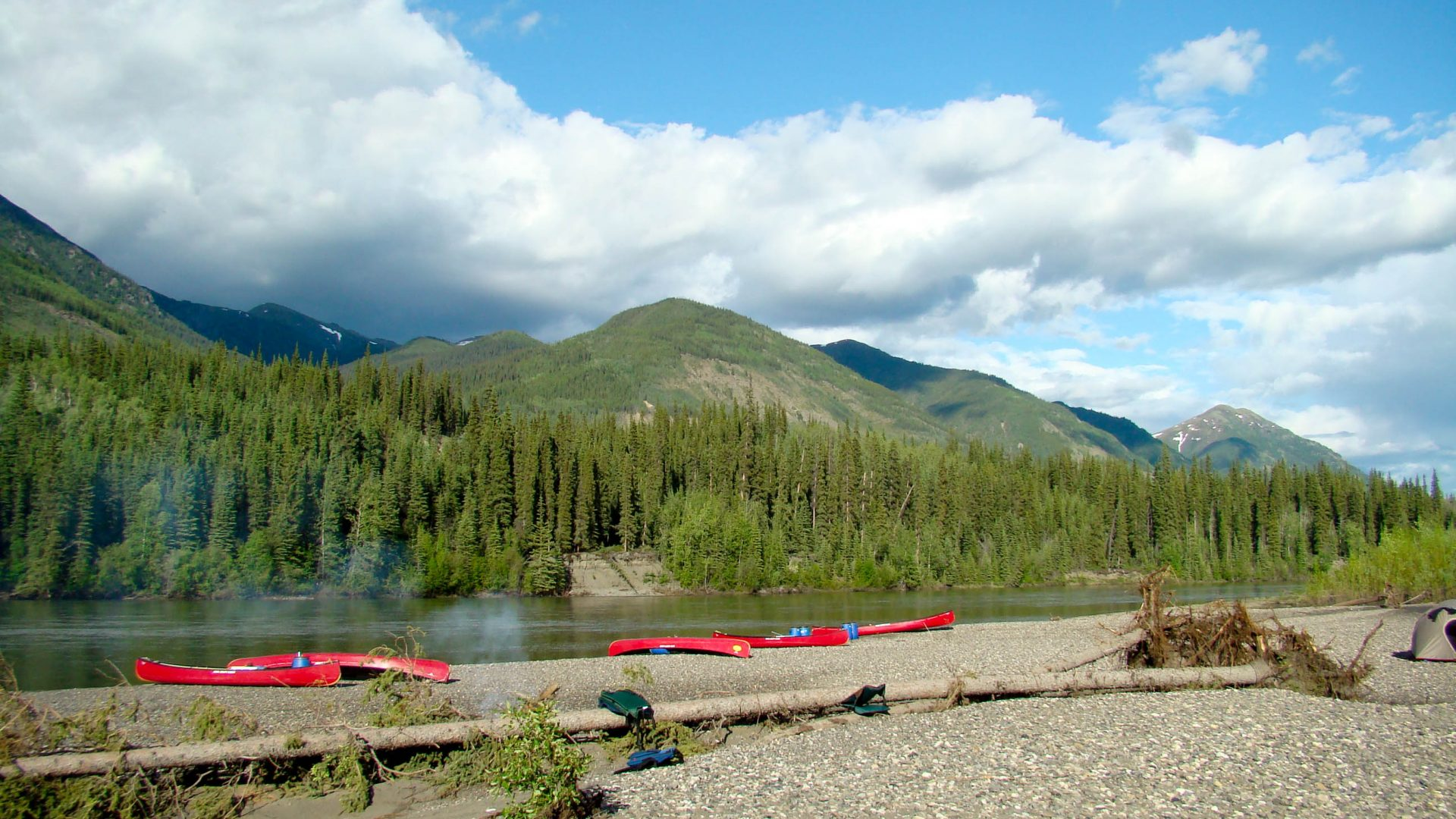 Spirit of the Yukon- Teslin River Canoe trip rest