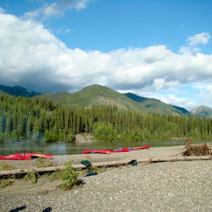Spirit of the Yukon- Teslin River Canoe trip rest