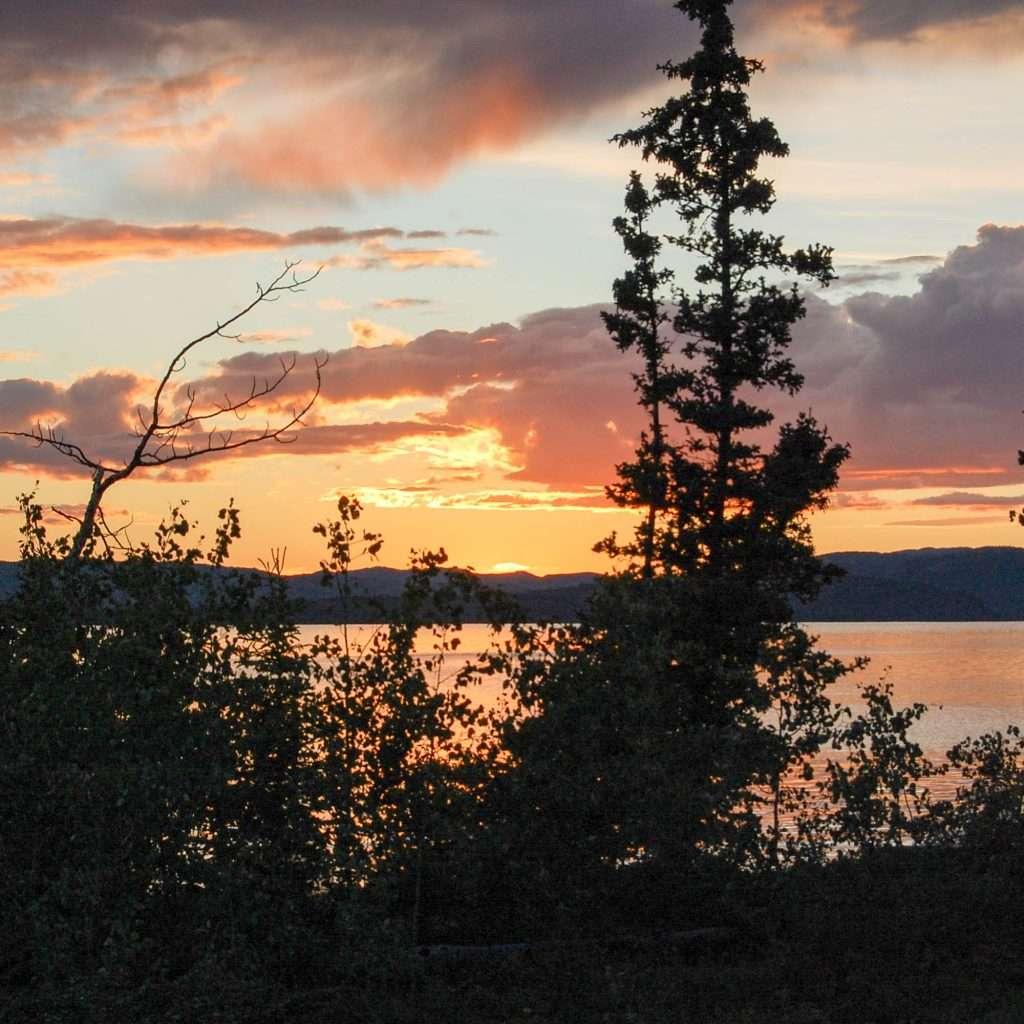 Yukon River – The Classic – Lake Laberge to Dawson City - Sunset at Lake Laberge