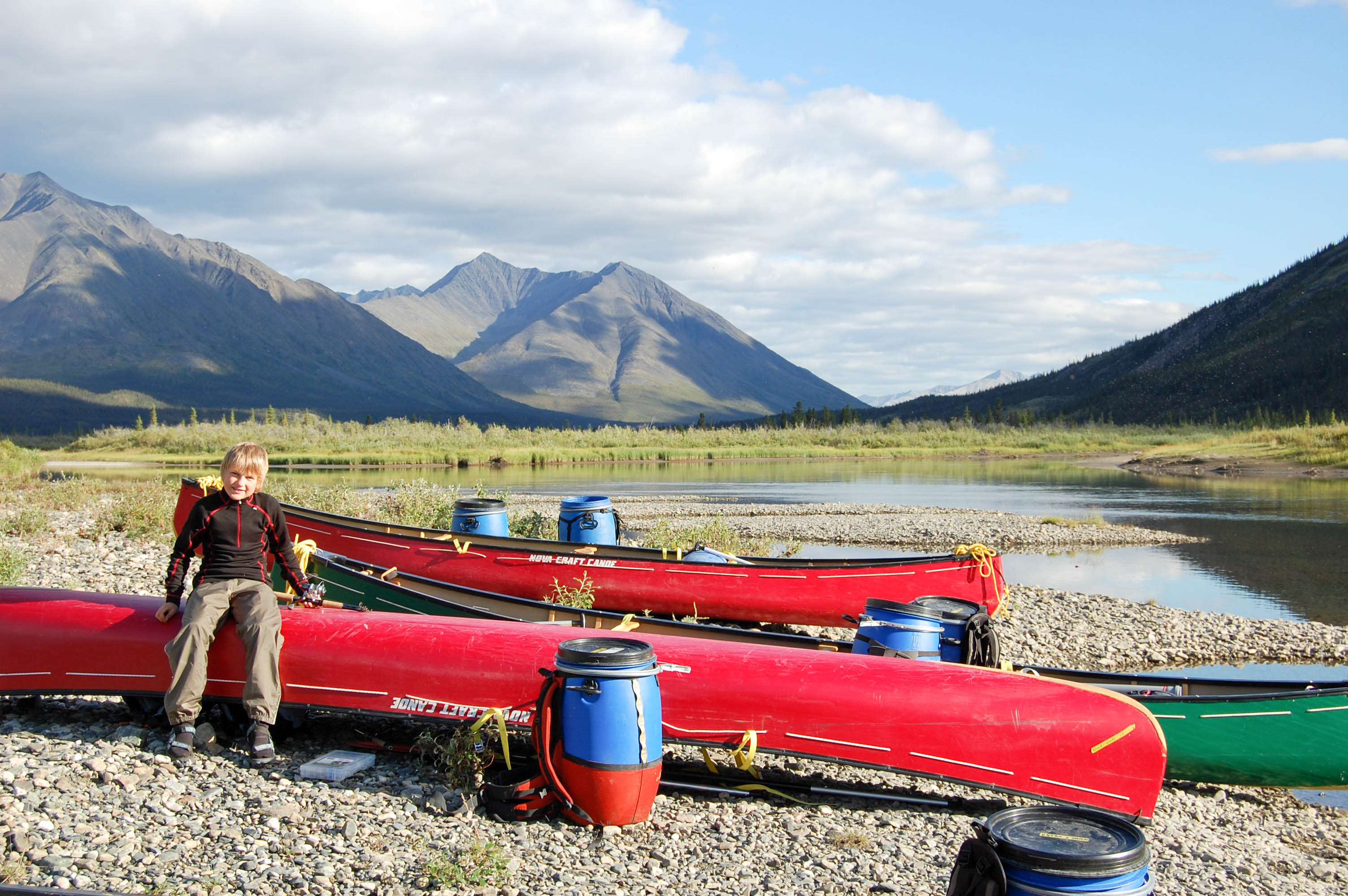The Heart of the Yukon - Wind River - canoes