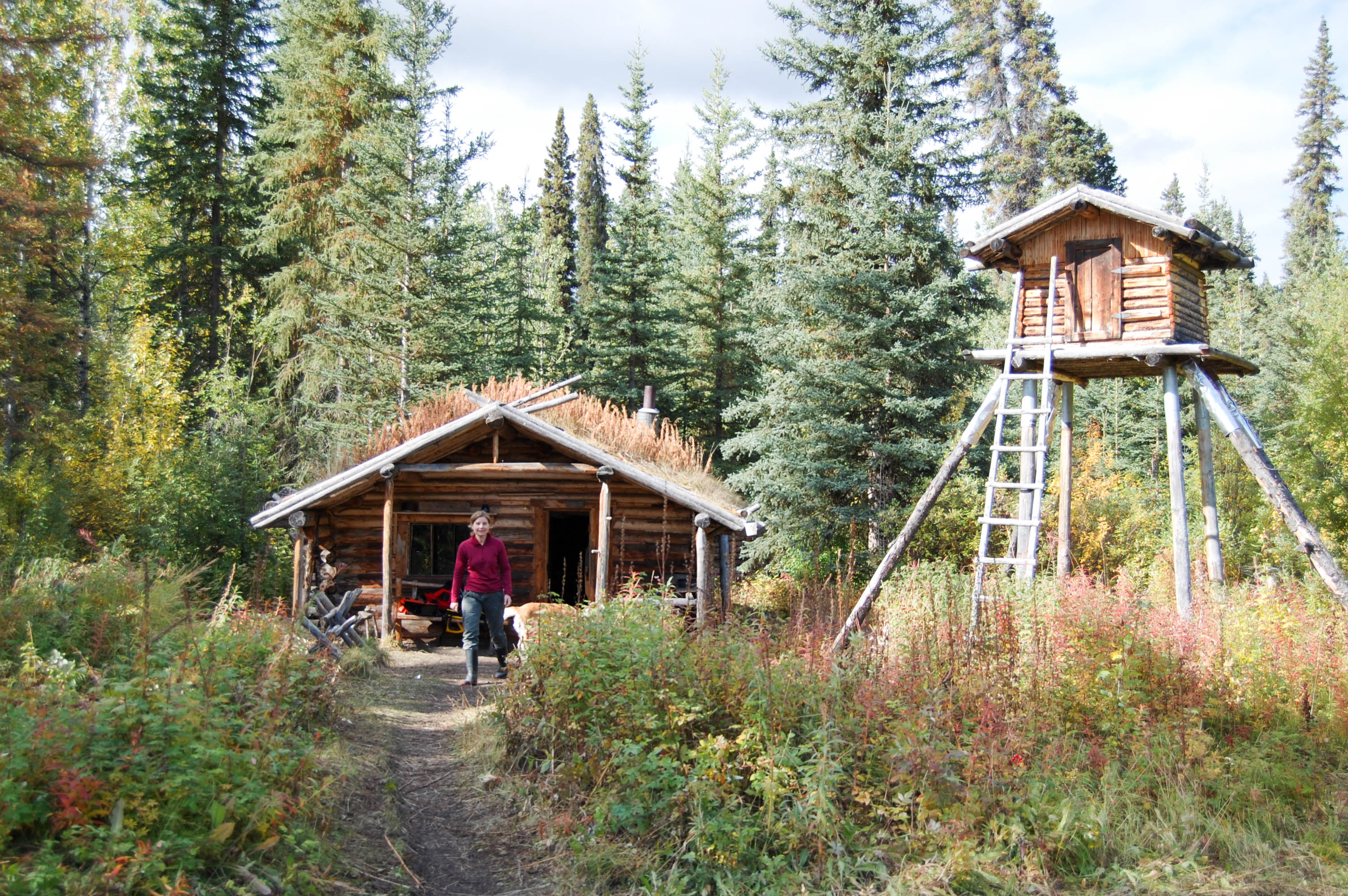The Klondiker - Big Salmon River - log cabins