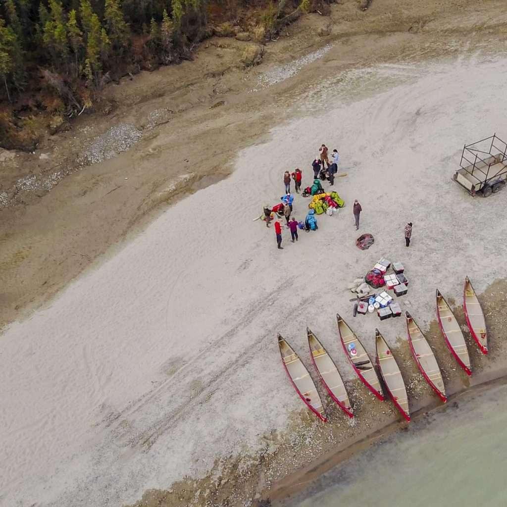 Yukon River Tour - Lake Laberge to Carmacks - Bird's-eye view of the Yukon