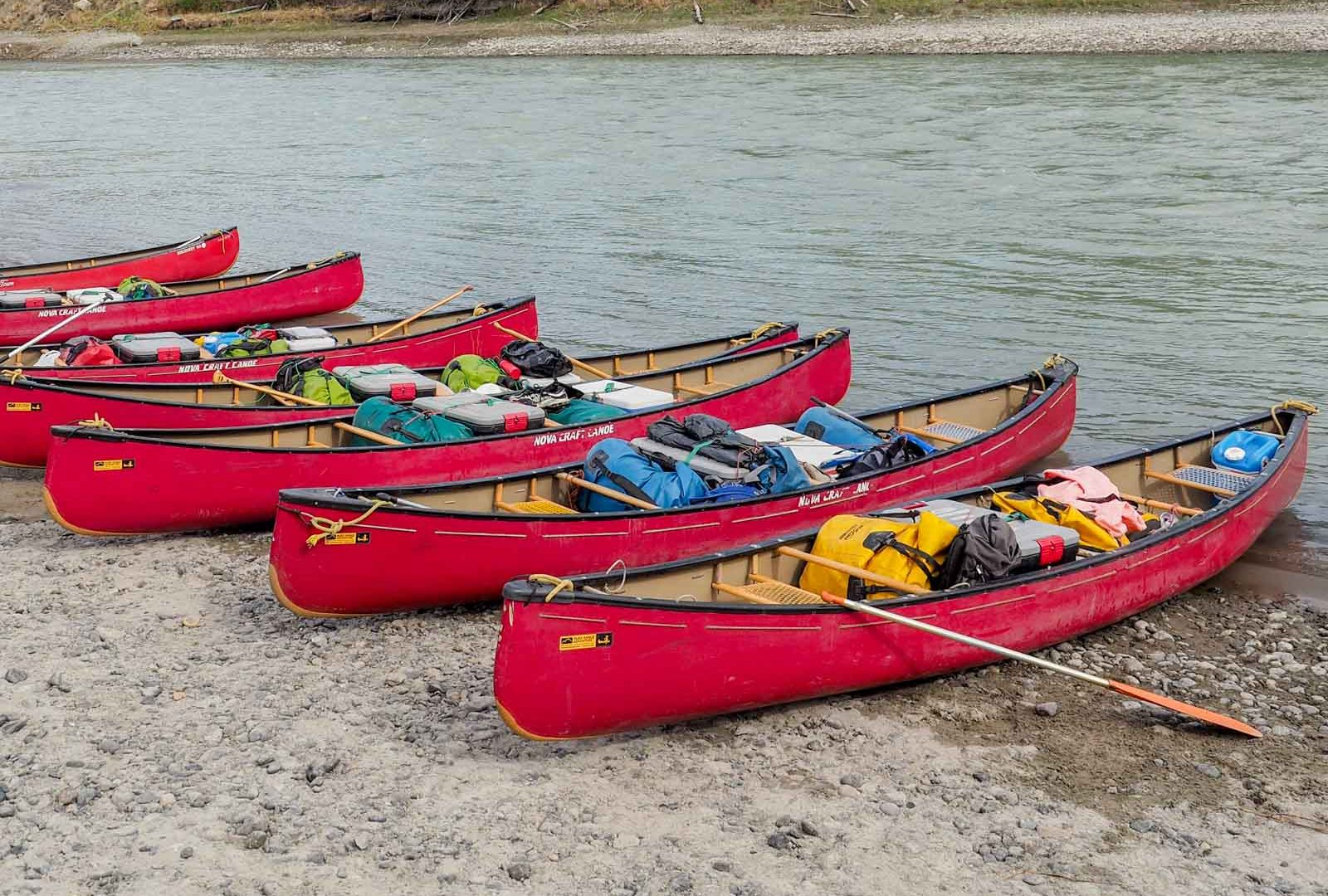 Yukon River Tour - Lake Laberge to Carmacks - Packed Canoes