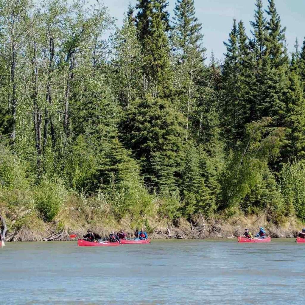 Yukon River Tour - Lake Laberge to Carmacks - Paddling on the Yukon