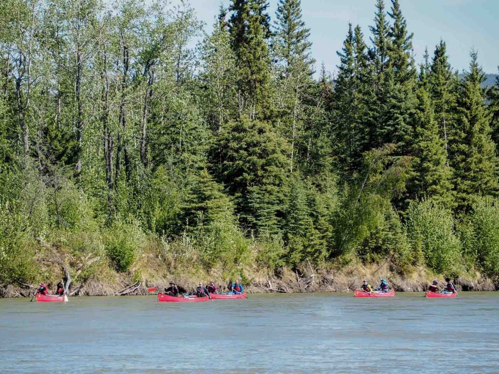 Yukon River Tour - Lake Laberge to Carmacks - Paddling on the Yukon