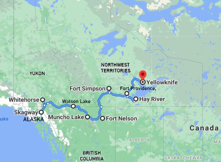 Ruby Range Adventure Discover Yukon and NWT Trip Map
