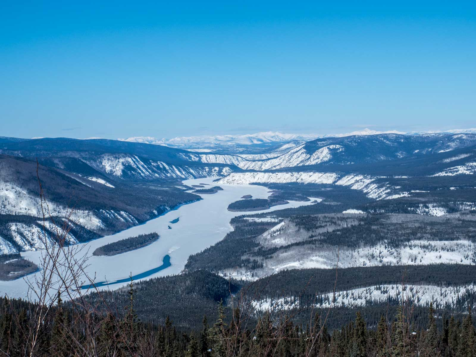 Dawson City Yukon River Winter