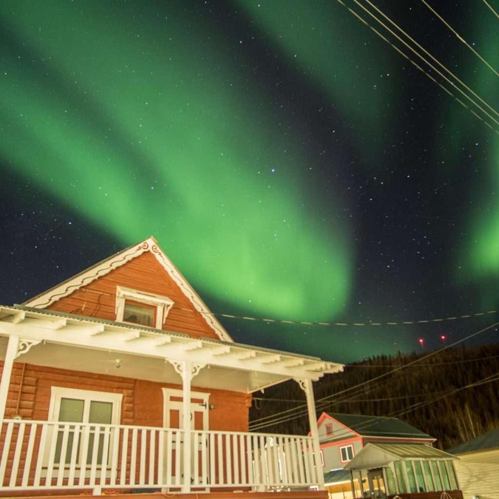 Dawson City Winter Aurora