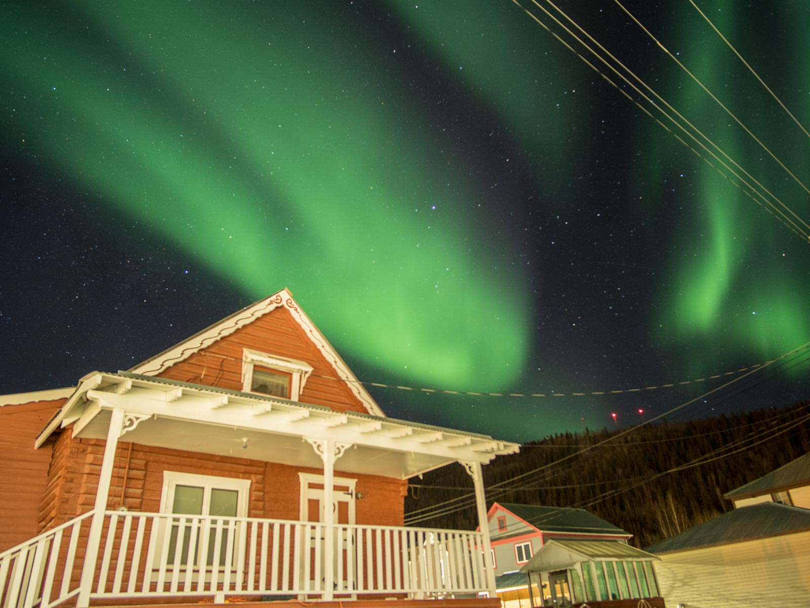 Dawson City Winter Aurora