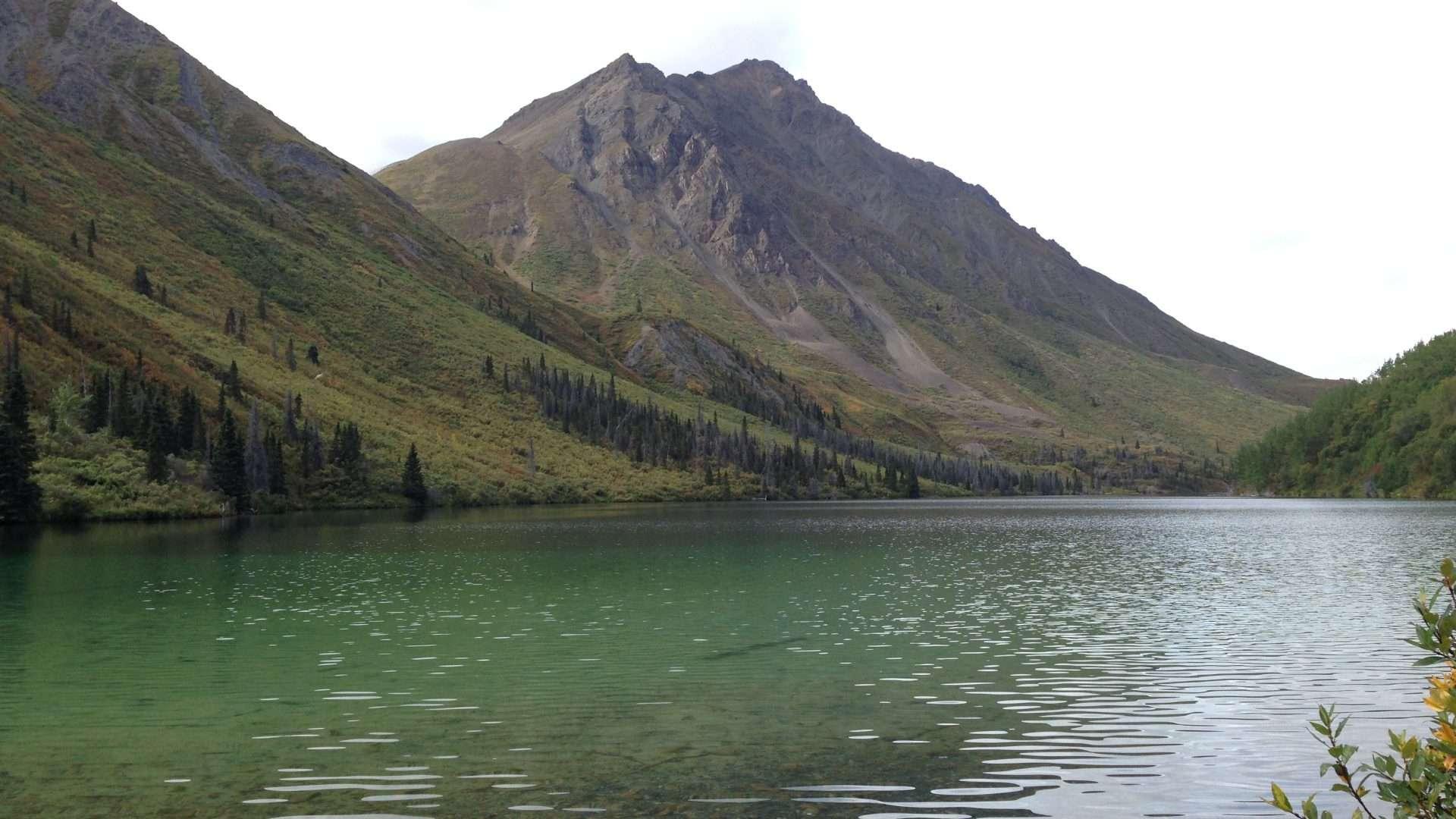 Kluane St Elias lake hike