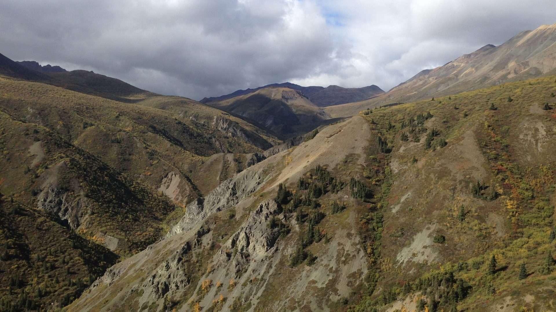kluane park sheep creek hike