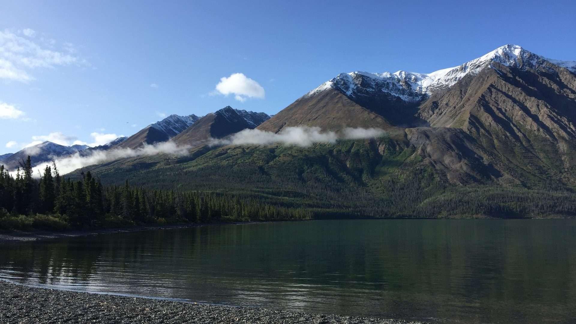 Kathleen lake in Kluane Park